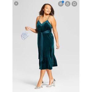 Target Torrid Plus Size Velvet Midi Slip Dress